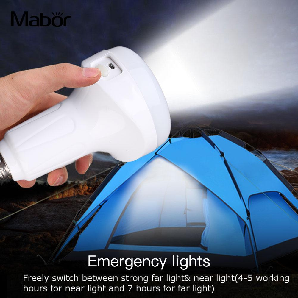 Convenient Eco-Friendly LED Bulb Emergency Light 15.5 * 9.5cm USB Charging E27 Flashlight Indoor Outdoor Lighting Fixture