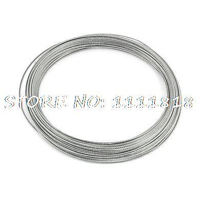 Hoisting Lifting 7x7 1mm Dia Stainless Steel Flexible Wire Rope 82Ft 3mm 7 7 stainless steel 316 wire rope 7x7 strand core seaworthy marine grade