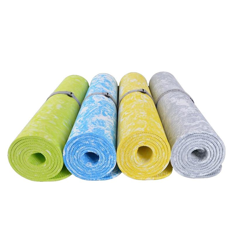 TPE 6mm Non-Slip Fitness Yoga Mat Exercise Gym Tapis Lose Weight Eco-friendly Tasteless Pilates Mat 185*62*0.6 cm Body Building