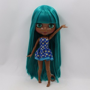 Image 3 - Icy Fabriek Blyth Pop Super Black Skin Tone Darkest Huid Groene Steil Haar Joint Body Bjd 1/6 30Cm Speelgoed
