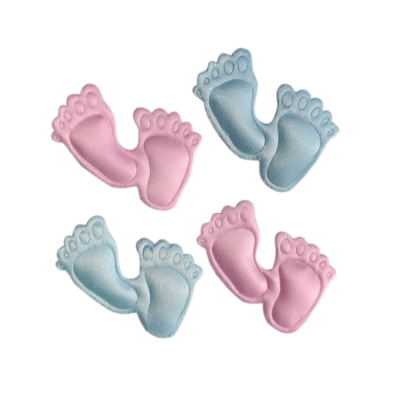 50PCS Adorable satin feet applique baby shower party decoration favors souvenirs girl boy candy box accessory scrapbook gift for boyfriend on anniversary