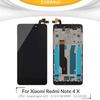 For 5 5 Xiaomi Redmi Note 4X LCD Screen Display Touch Digitizer With Frame For Xiaomi