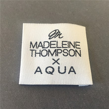 Factory Price Customized High Density End Fold Garment Label Woven / Clothing Main