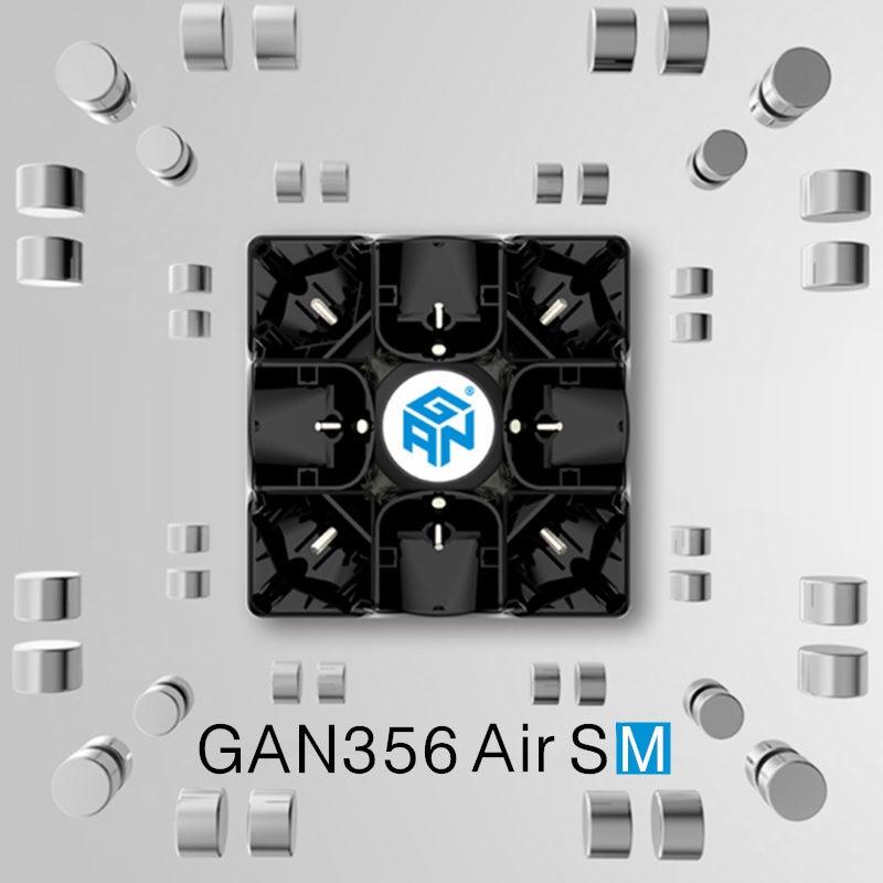 GAN 356 Air SM 3x3x3 with magnetic puzzle magic speed cube professional gans 356 professional cubo magico Gan356 Air version 249 dayan 5 zhanchi 3x3x3 brain teaser magic iq cube white