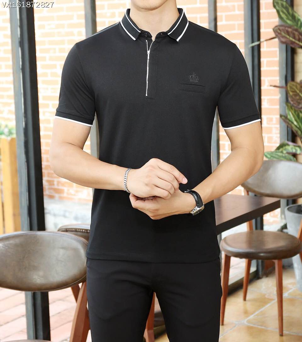 2015 new real camisa solid polo shirt mens fashion cool design short - Bh B6898 Fashion Men S Tops Tees 2017 Summer Hot Sale Fashion Design Short Solid Party