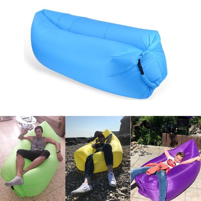 air bag chair leg covers christmas fast inflatable lazy sleeping camping portable sofa beach bed hammock nylon banana