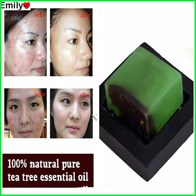 Powerful Acne Remover 100% Pure Tea Tree Essential Oil Soap Acne Treatment And Remove Whelk Shrink Pore Face Care Facial Soap tea tree essential oil australian tea tree oil acne oil control whitening anti inflammatory oil10ml acne scar removing essential