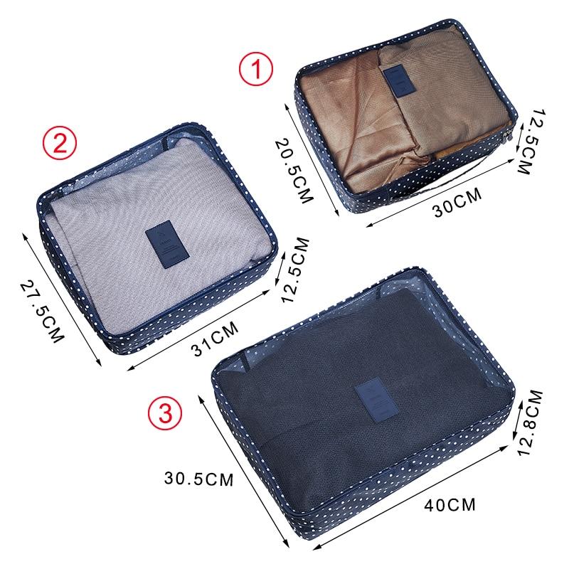6 ADET / TAKıM Giysi Depolama Organizasyon Seyahat Seti Bavul - Evdeki Organizasyon ve Depolama - Fotoğraf 3