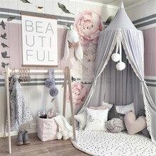 Хлопок Детская кровать навес покрывало москитная сетка занавеска постельные принадлежности круглая купольная палатка защита от насекомых