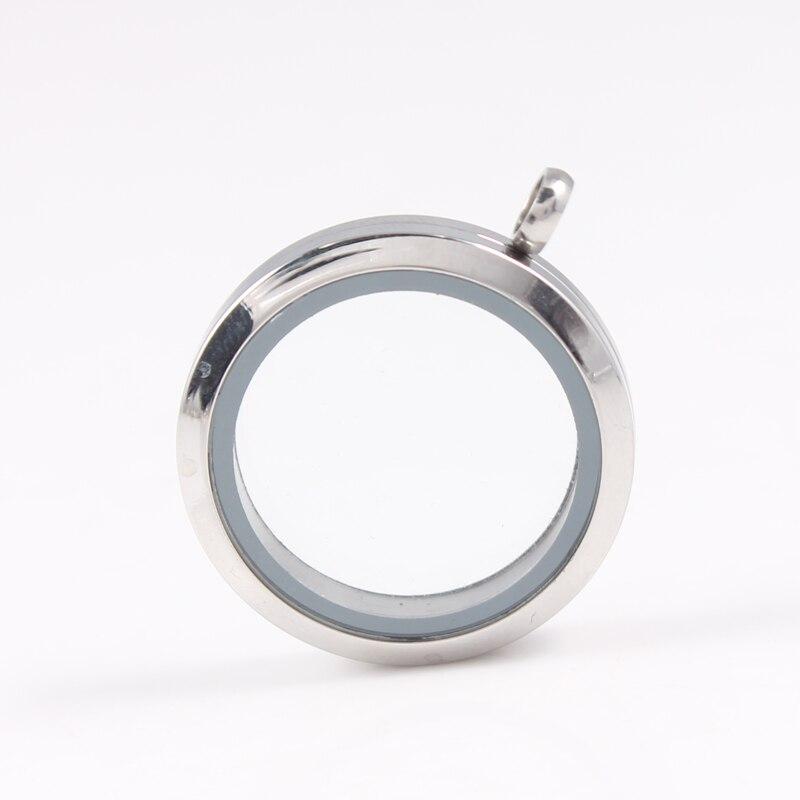 Wholesale Mix Size Waterproof Floating Locket 316L Stainless Steel Twist Memory Glass Lockets Pendant DIY Jewelry