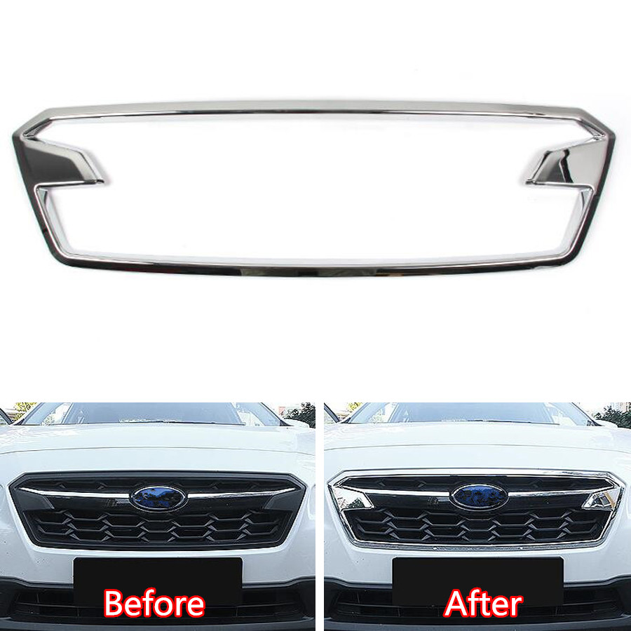 YAQUICKA Chrome ABS Car Front Middle Grille Grill Frame Cover Trim Styling For Subaru XV 2018 Car-covers Mouldings Accessories givenchy very irresistible парфюмерная вода very irresistible парфюмерная вода