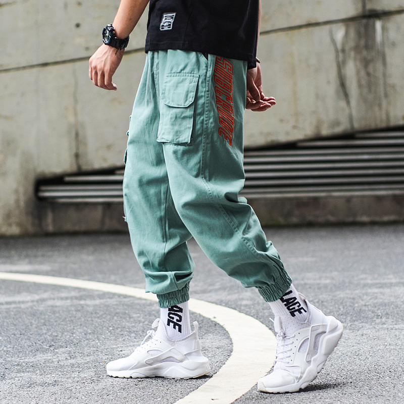 Fashion Camouflage Jogger Pants Men Hip Hop Trousers Loose Fit Ankle Banded Big Pocket Cargo Pants Streetwear Men 39 s Punk Jeans in Jeans from Men 39 s Clothing