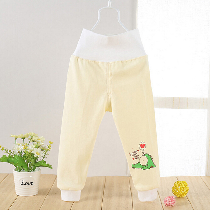 High Waisted Baby Pants Cotton Infant Clothes Cute Soft Outerwear Boy Girl Trousers Belly Care Pants 6-18 Months Baby Clothing