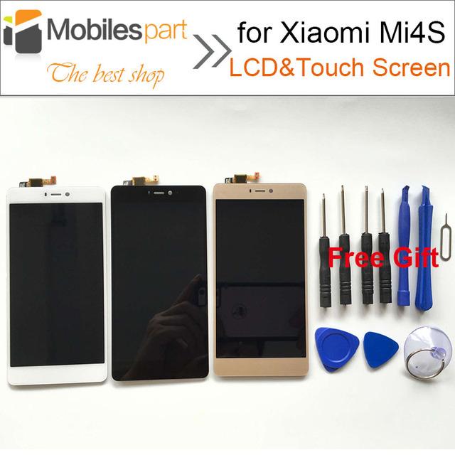 Pantalla lcd para xiaomi mi4s alta calidad nueva pantalla lcd de repuesto + de la pantalla táctil para xiaomi mi4s mi 4s 5.0 pulgadas smartphone