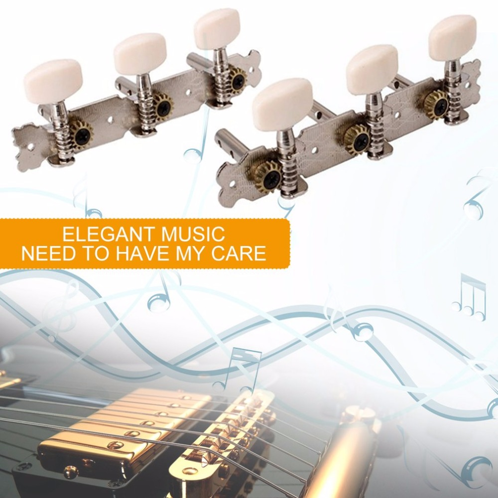 TSAI Guitar Tuning Pegs Professional Alloy Tools Machine Heads Tuners Tip for Classical Guitar Three Button Tuning for Guitarra a set of 3r3l string tuners tuning peg machine heads for classical guitar