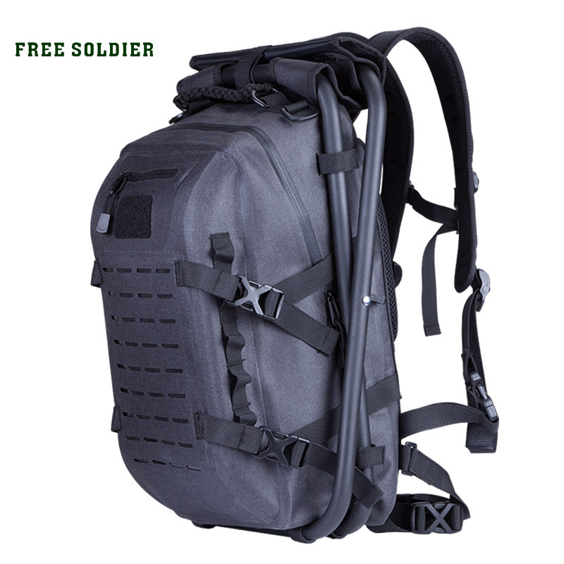 FREE SOLDIER Outdoor Sports Hiking Tactical Military Backpack Detachable Bag for Men Multi Function Portable Chair