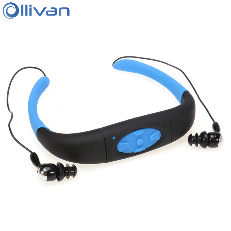 Ollivan 4G 8G IPX8 Waterproof Earphone Neckband Sports Diving Headset MP3 Player Headphones Underwater Swimming Earphones women sexy distressed hole denim jeans fashion cotton stretch full length jeans high waist skinny pencil pants