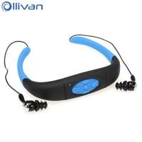 Ollivan 4G 8G IPX8 Waterproof Earphone Neckband Sports Diving Headset MP3 Player Headphones Underwater Swimming Earphones