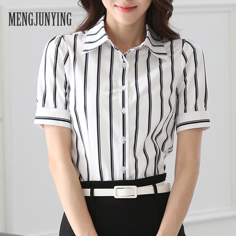 mjy spring work shirt women plus size blouse short sleeve