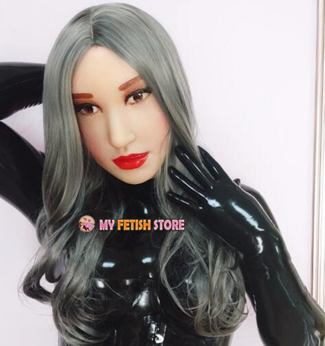 Shelli Quality Handmade Soft Silicone Realist Full Head Female Girl Crossdress Sexy Doll Face Cosplay