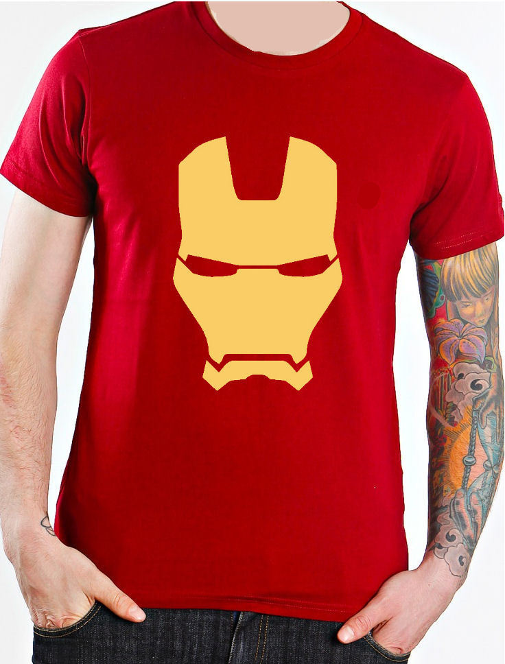 Iron man mask marvel comics superhero kids t shirt cotton t-shirt fashion t shirt free shipping newest 2017 men's fashion