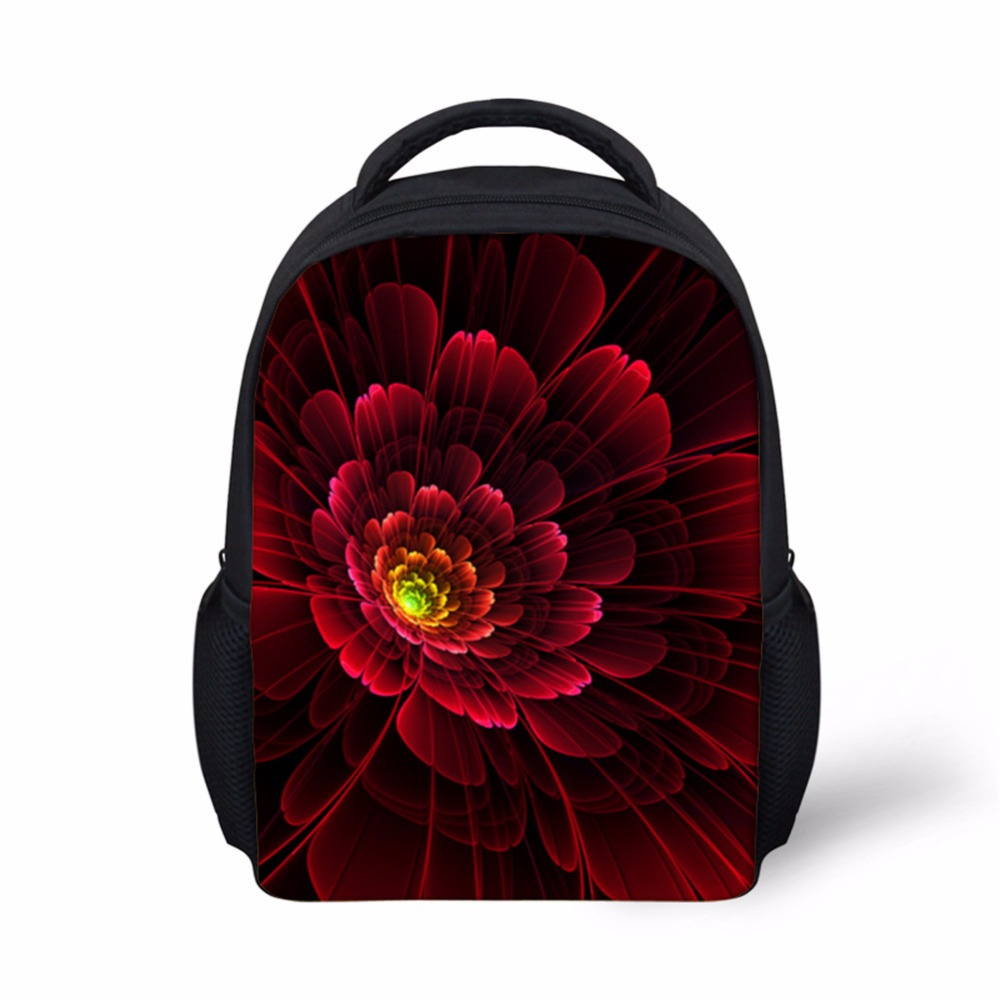 Noisydesigns Beauty Kids Backpack Kindergarten Girls Boys Children Backbag 12inch Flower Bag Casual School Bag Mochila Feminina