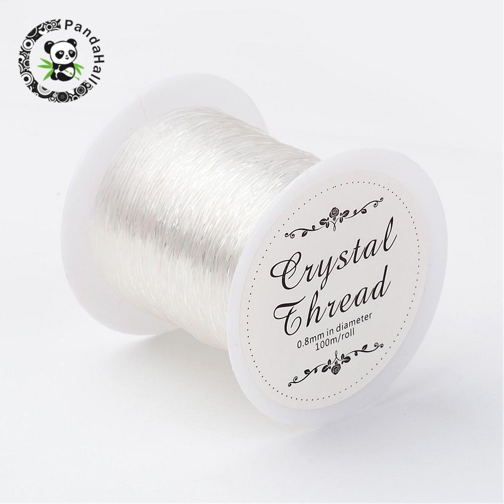 25 Rolls Groothandel 0.8mm Clear Crystal Draad Sieraden Bevindingen voor Sieraden Maken DIY 100 m/roll-in Sieraden bevindingen & Componenten van Sieraden & accessoires op  Groep 2