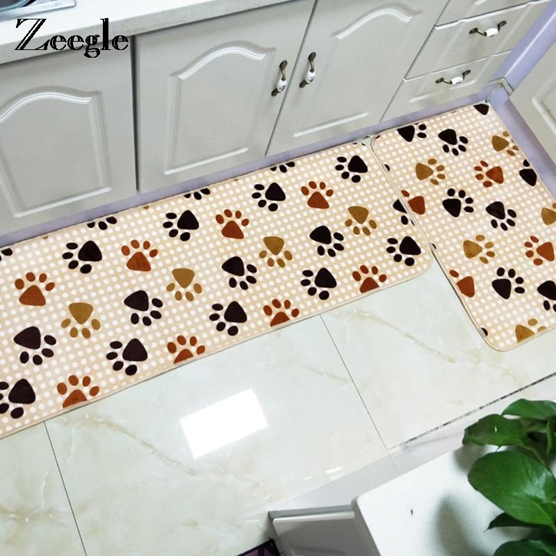 Zeegle Kitchen Mats Door Mat Carpet For Living Room Absorbent Kitchen Rug Kid Bedroom Floor Mat Chair Foot Pad