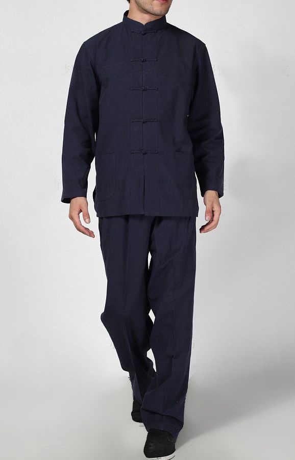 10 kolor mężczyźni stara gruba bawełna wing chun tang garnitury mężczyzn tai chi kung fu mundury lay medytacja sztuki walki zestawy odzieżowe