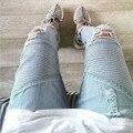 2016 Venda Quente calças Slim estiramento balmans mens jeans motociclista jeans famosos homens da marca do produto balmaied calças de brim dos homens, Livre grátis