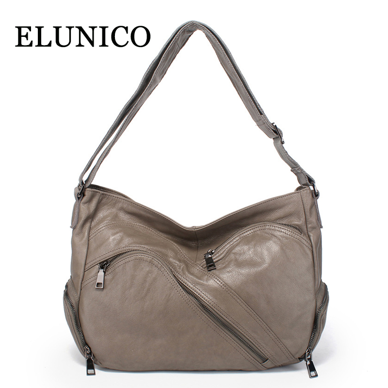 ELUNICO Spring Leisure Women Messenger Bags Female Cowhide Genuine Leather Tote Bag Ladies Real Leather Crossbody Bag Sac A Main elunico new genuine leather women handbags 2018 summer fashion female messenger shoulder bag ladies tote bags bolsas sac a main