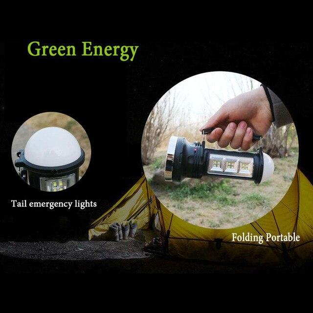 Powerful Led Flashlight Solar Hand  Lamp  4