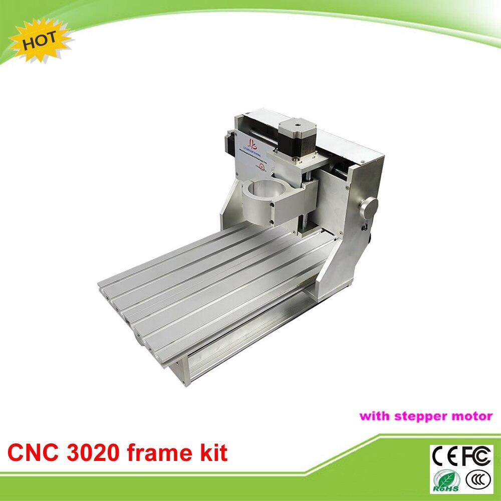 Best quality 3020 mini CNC frame assembled stepper motor mini CNC lathe free tax to RU cnc frame 3020 with stepper motor for cnc machine