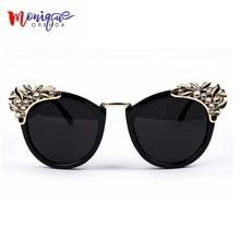 New 2016 Women Luxury Brand Sunglasses Jewelry Flower Rhines