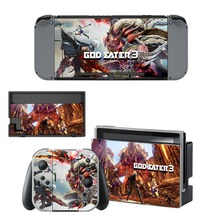 GOD EATER 3 Decal Vinyl Skin Sticker for Nintendo Switch NS Console + Controller + Stand Holder Protective Film