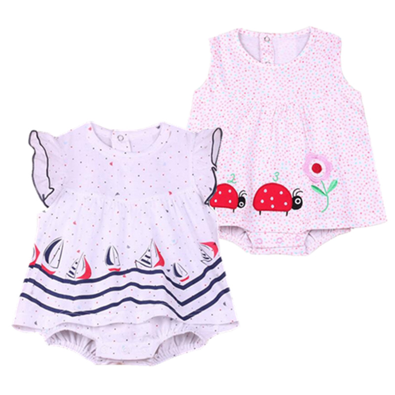 2018 Baby Rompers Summer Baby Girls Clothing Sets Cute Newborn Baby Clothes Toddler Baby Girl Clothes Roupa Infant Jumpsuits brand cute toddler girl clothes rainbow color sling 2 pcs baby girl clothing sets for 6m 3y free shipping