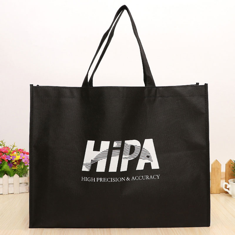 100pcs Wholesale 35x40Hx10cm Reusable Non Woven Shopping Bags With Logo Promotional Gifts Customize Eco Tote