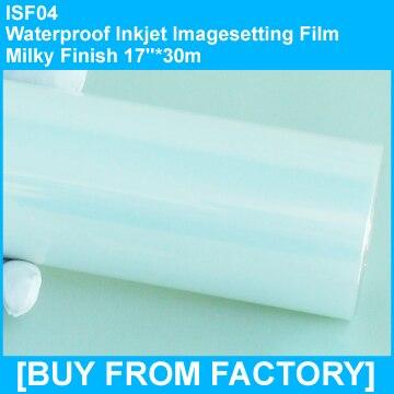 "Waterproof Inkjet Film  Milky Finish for Inkjet Printers 17""*30M"