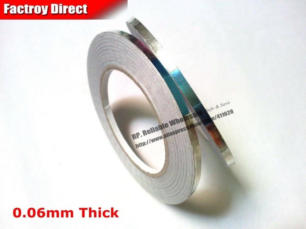 0.06mm Thick, 2 Rolls 10mm*40Meters Adhesive Aluminum Foil Tape for Hot Sealing, Phone Repair EMI Masking hot thick reinforced aluminum magnesium