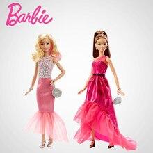 8171475ae0835 オリジナルバービー人形高級セクシーevenigドレス赤ちゃんのおもちゃ教育バービーおもちゃ誕生日ギフト用女の子DGY69送料無料