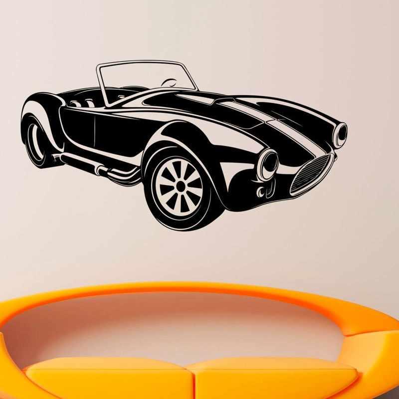 Nova chegada criativo decoração da parede vinil automóvel retro carro adesivos de parede meninos quarto auto adesivo papel de parede decoração para casa