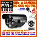 "High-End SONY Camera 1/3""CCD Effio 4140+238IMX Ccd900TVL Outdoor Waterproof OSD Menu Infrared Array HD Night Vision 50m Bracket"