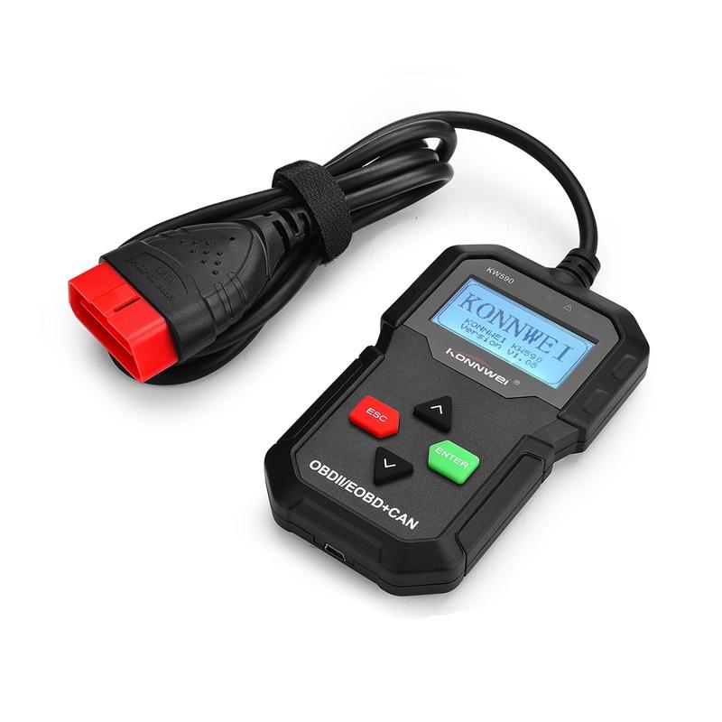 OBD2 Scanner Car Diagnostic Scanner KONNWEI KW590 Free Update Car Diagnostic Tool Better ELM327 Auto Scanner Diagnosis