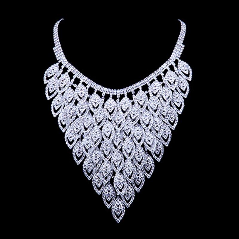 Mode de luxe femmes cristal bijoux ensemble romantique mariée bijoux ensembles Costume de fête de mariage perles africaines robe accessoires N112