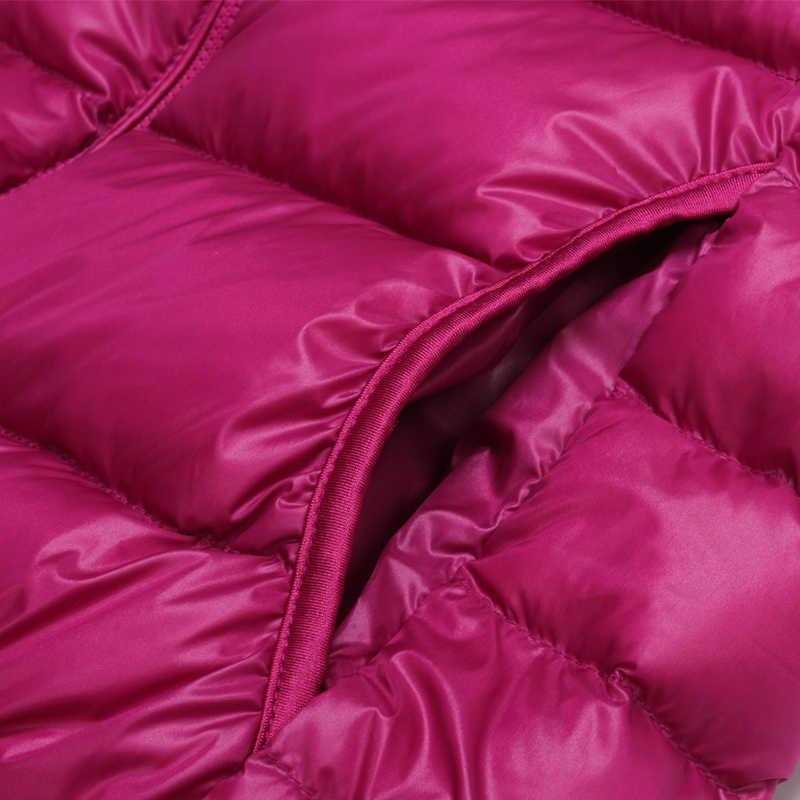 Новинка, весна-осень, модный пуховик в горошек с капюшоном, Женская светильник тонкая осенняя куртка, женское офисное короткое пальто без рукавов Mw543