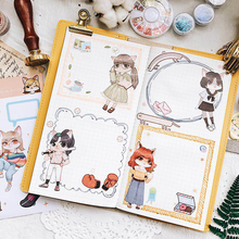 1X Cute cat series Sticker Pack Diary Decoration Scrapbooking diy seal decoration School stationery sticker