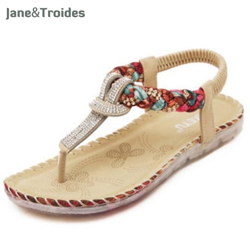 Summer Women's Sandals Bohemia Gladiator Sandal Women Shoes Flip Flops Sandalias Mujer Ladies Shoe Fashion Female Footwear