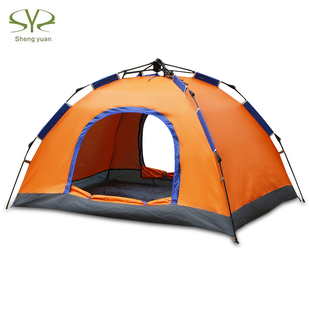 SHENGYUAN Outdoor Portable Camping Tent Waterproof Windproof Pop Up Two Person Automatic Tents For Camping Hiking mobi outdoor camping equipment hiking waterproof tents high quality wigwam double layer big camping tent