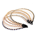 Women Lady Girl Crystal Rhinestone Hairband Elegant Beaded Bling Headbands Head Jewelry Hair Band Accessories