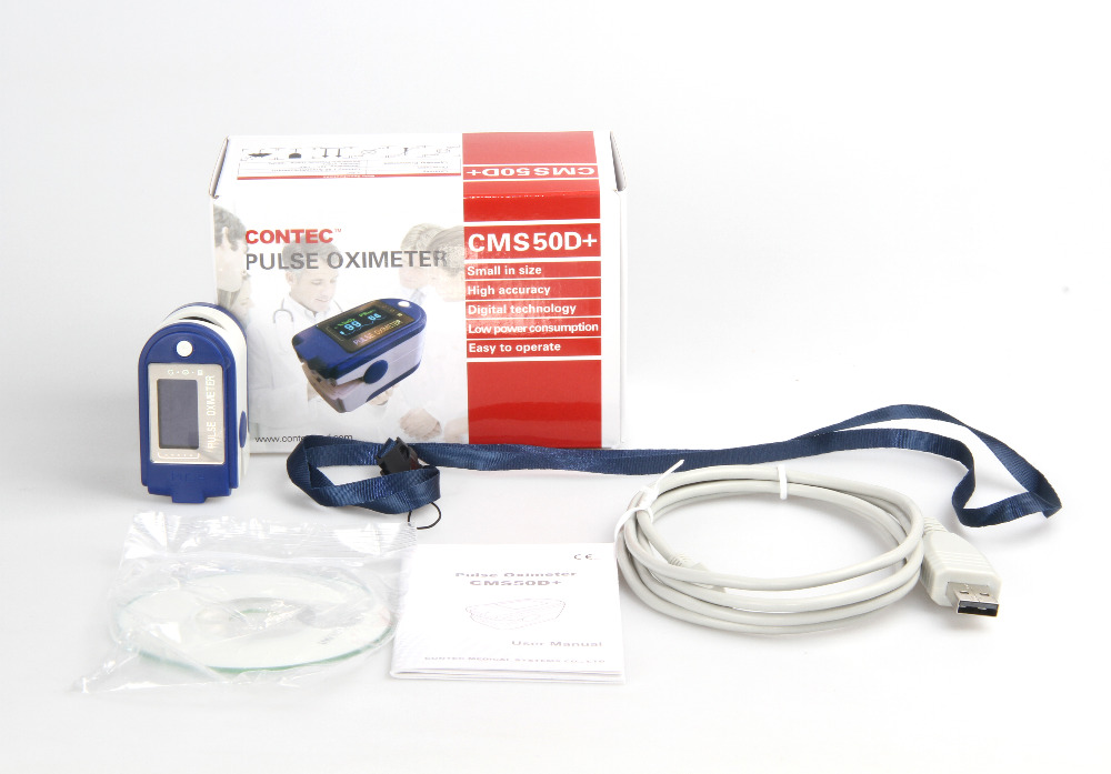 CE FDA CMS50D Plus Fingertip Pulse Oximeter SPO2 Monitor 24 Hours Record CMS50D+